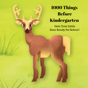 One Thousand Things Before Kindergarten - Deer Picture